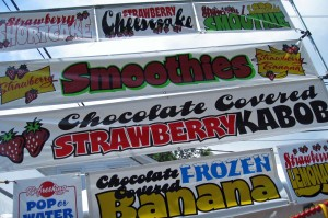Strawberry Product Signage