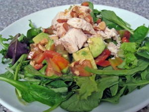 Heirloom Tomato & Avocado Salad with Chicken
