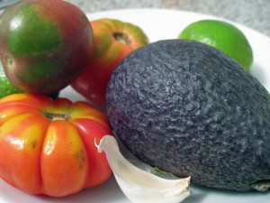 Heirloom tomatoes & Avocado