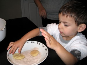 Ben making cookies