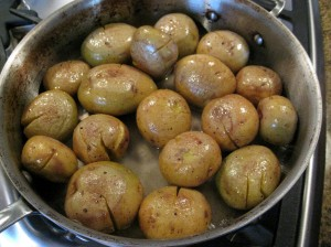 Cracked Yukon Gold Potatoes with Rosemary
