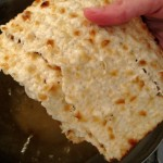 Fried matzo: drain matzo