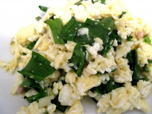 Scrambled Eggs with Ramps