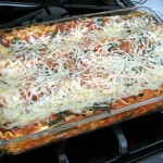 Low-sodium vegetable lasagna