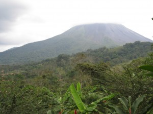 Arenal Volcano, taken from room balcony