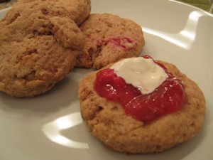 Strawberry-Rhubarb Scones
