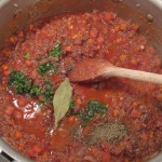 Bison Ragù: add herbs