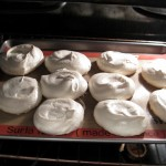 Pavlova Clouds with Strawberries: baking Pavlovas