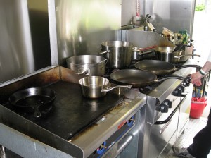The cooking station