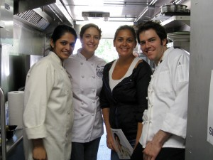 "Me with ""Top Chef's"" Radhika & Antonia, & Colin"