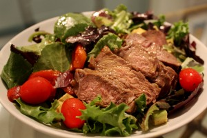 Roasted Red Pepper Beef Salad