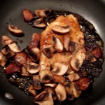 Balsamic Fried Egg: stir in cooked mushrooms