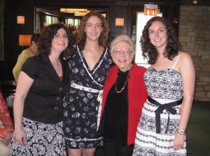 Gram with her Granddaughters (Heather, Jackie & Marci)