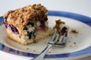 White Peach & Blueberry Buckle