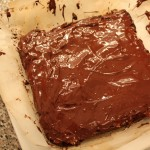 Choc PB Bars: pour melted chocolate over bars
