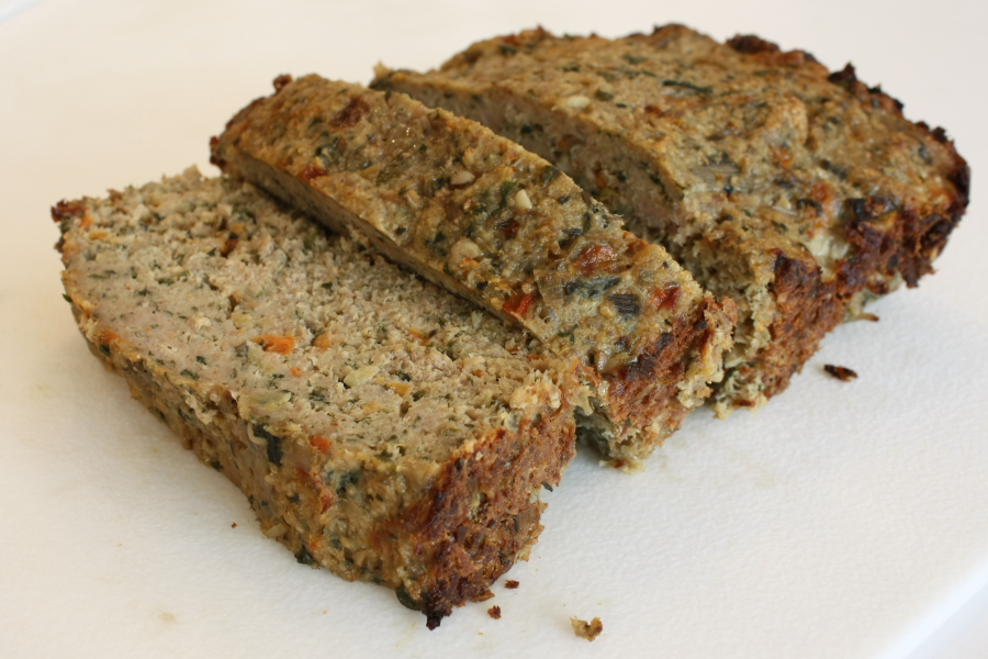 Swiss Chard & Roasted Red Pepper Turkey Meatloaf | Foodie Reflections