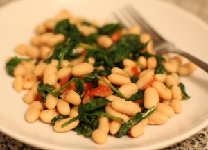 White Beans & Spinach