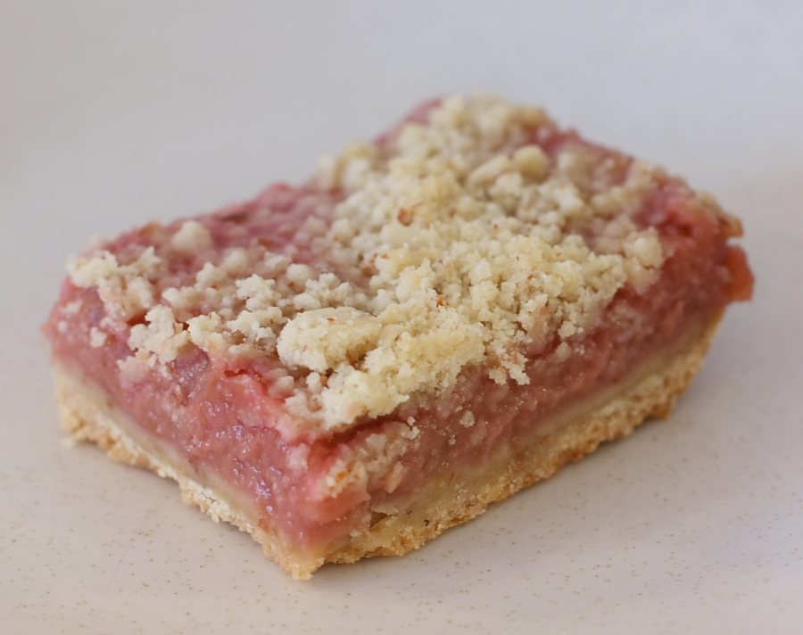Rhubarb Almond Squares | Foodie Reflections