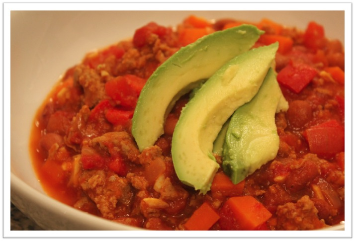 Turkey Chili with Avocado