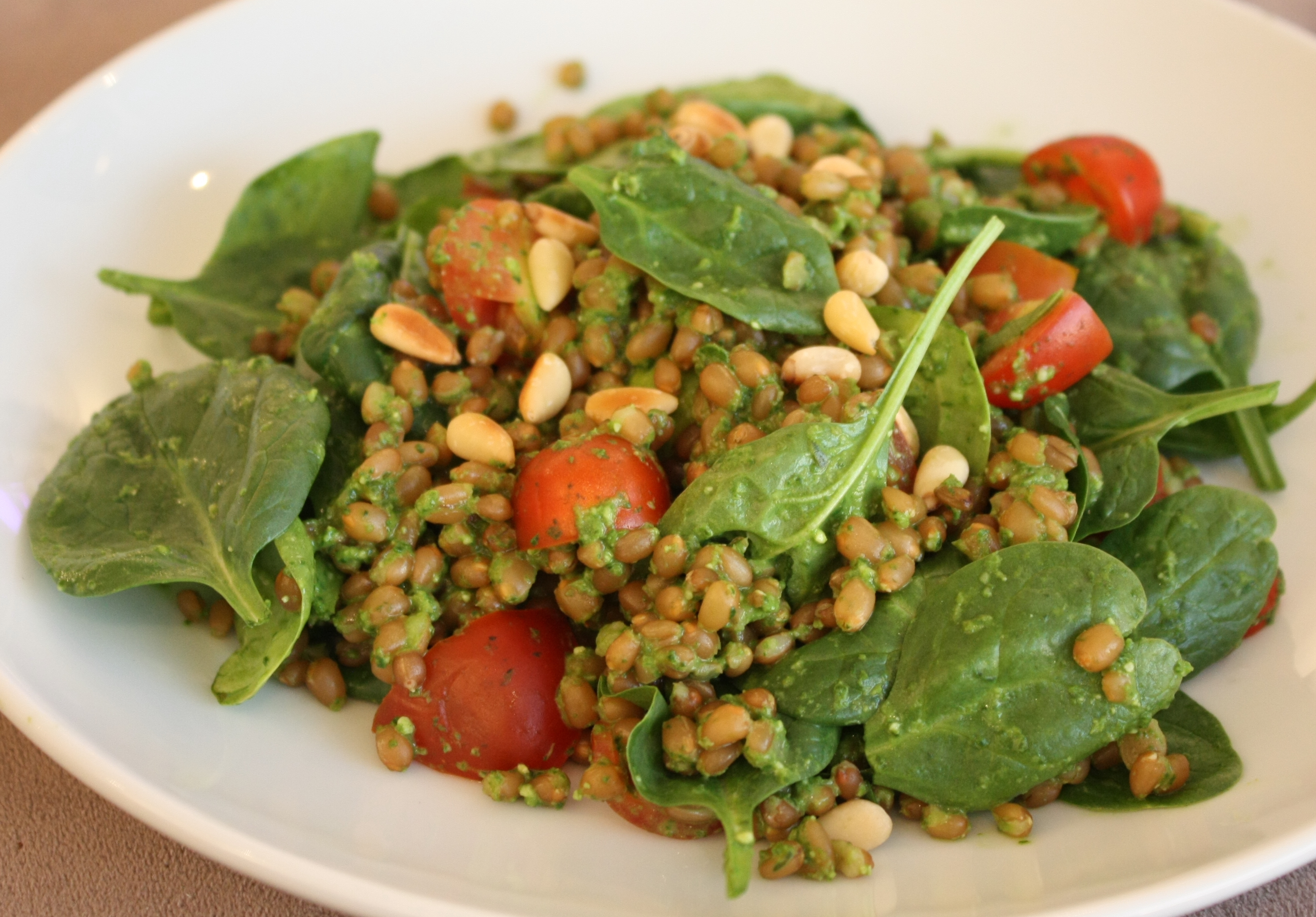 wheat berries arugula pesto wheat berries arugula pesto wheat berries ...
